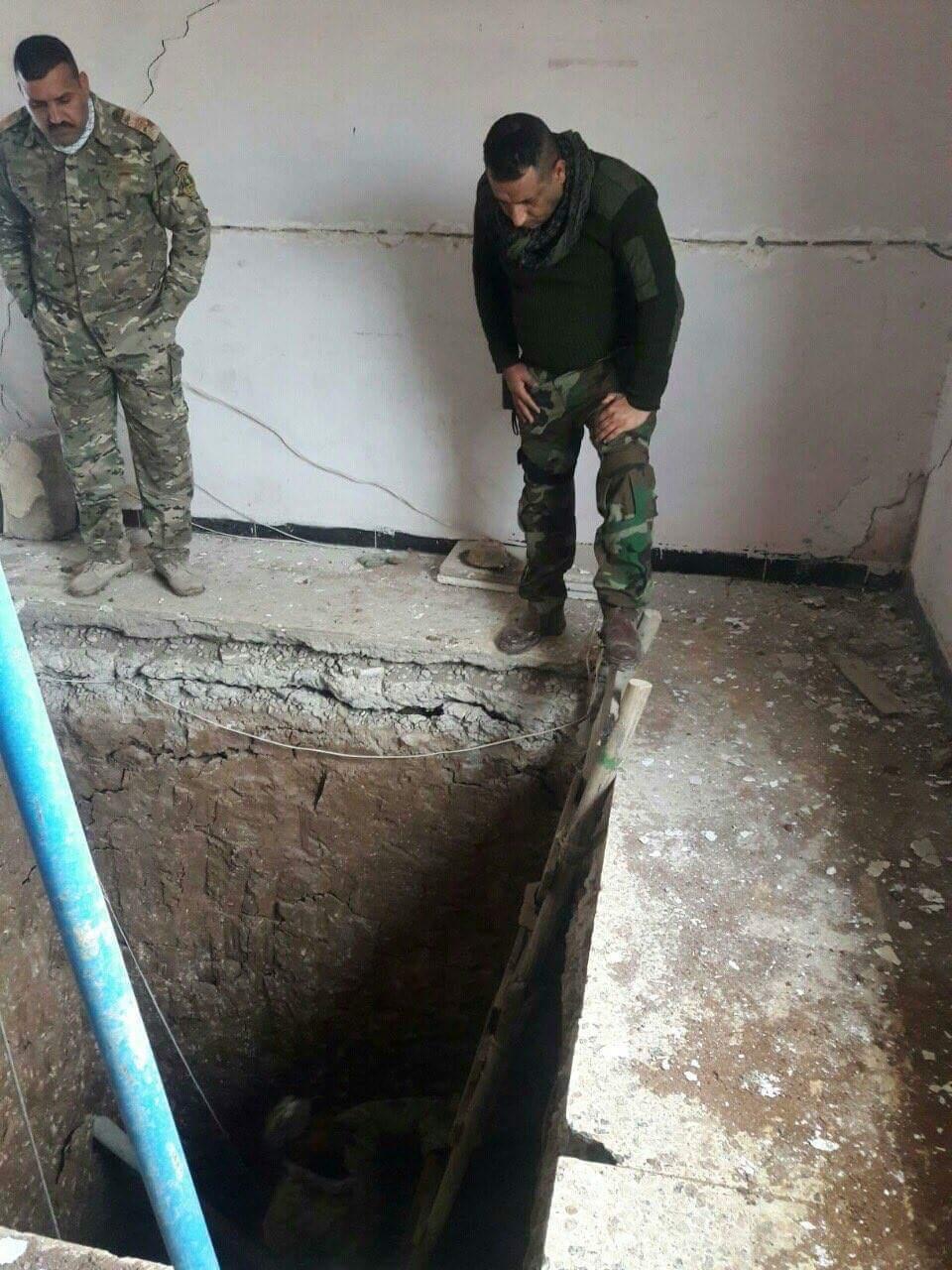 کشف بزرگترین شبکه تونلی داعش در منطقه «الهیاکل»/ تبعه «اماراتی»،عامل انتحاری بازار شرق موصل + تصاویر