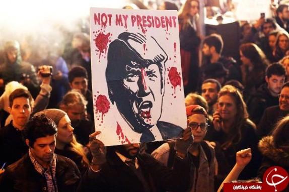 باشگاه خبرنگاران -تظاهرات و اغتشاش در آمریکا، در آستانه تحلیف ترامپ/چهرههای مشهور در میان معترضان+تصاویر