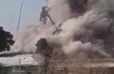 باشگاه خبرنگاران - لحظه وحشتناک فرو ریختن ساختمان پلاسکو از فاصله چند متری + فیلم