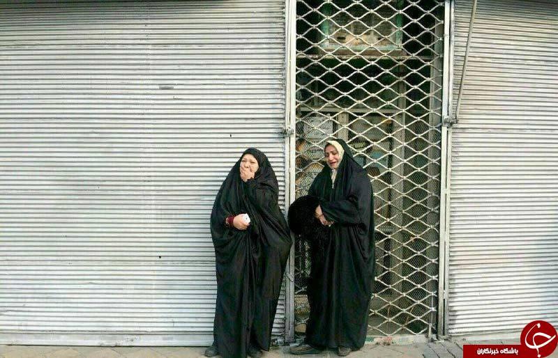 مادران چشم انتظار در اطراف ساختمان پلاسکو