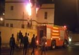 باشگاه خبرنگاران - آتشسوزی کلانتری شوش دانیال + فیلم