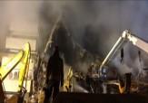 باشگاه خبرنگاران -ادامه دود و آتش در ساختمان پلاسکو + فیلم
