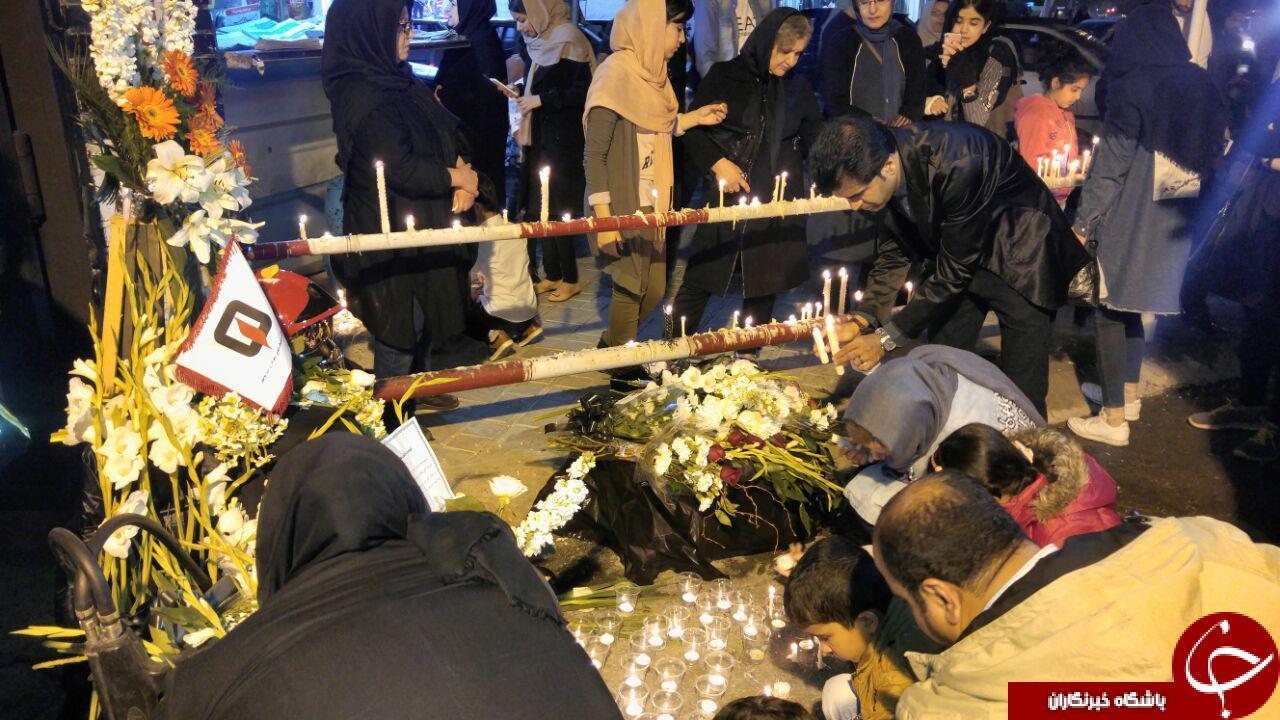 مردم بوشهر در سوگ جانفشانان فاجعه پلاسکو+تصاویر