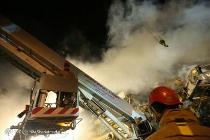 باشگاه خبرنگاران -ادامه عملیات امداد و نجات در ساختمان پلاسکو