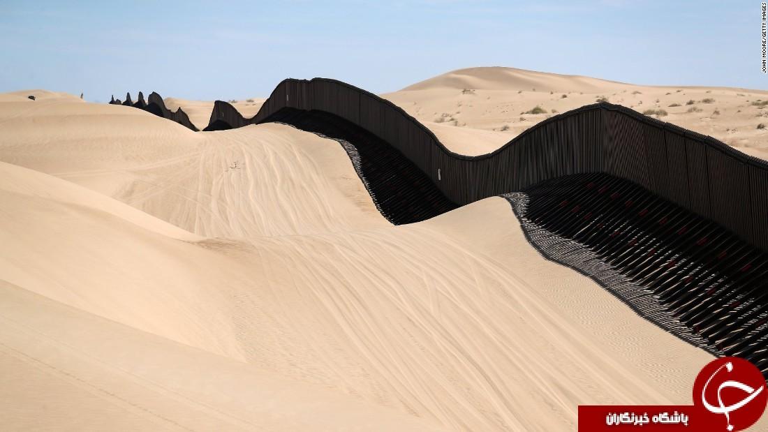 مرز فعلی بین مکزیک و آمریکا چگونه است؟