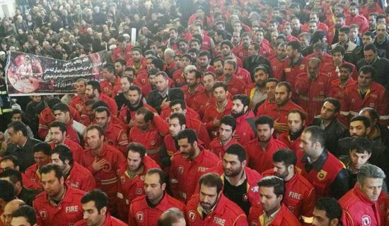 مصلای تهران میزبان شهدای آتشنشان/ محدودیت ترافیکی اطراف مصلای امام خمینی(ره) + فیلم و عکس