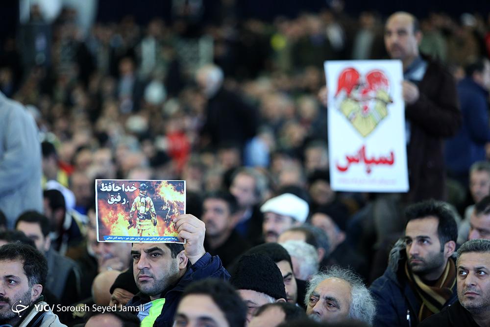 عکسهای تشییع شهدای آتش نشان حادثه پلاسکو دوشنبه 11 بهمن 95+فیلم