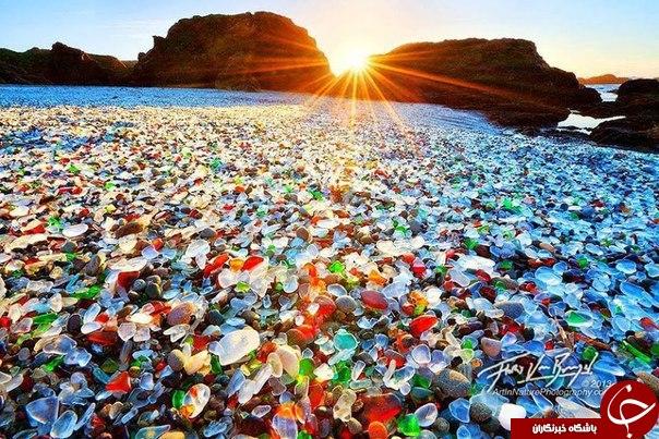 شگفت انگیزترین ساحلهای رنگی دنیا + تصاویر