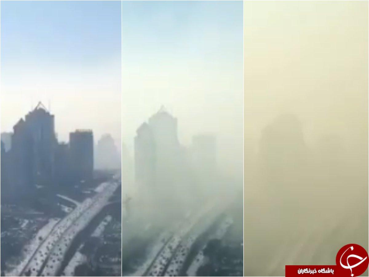 آلودگی هوای چین دامن گیر 72 شهر شد