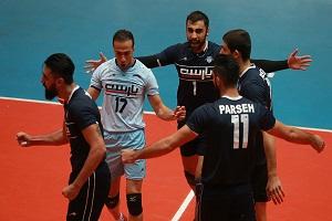 پیروزی تیم والیبال صالحین ورامین مقابل پارسه تهران + فیلم