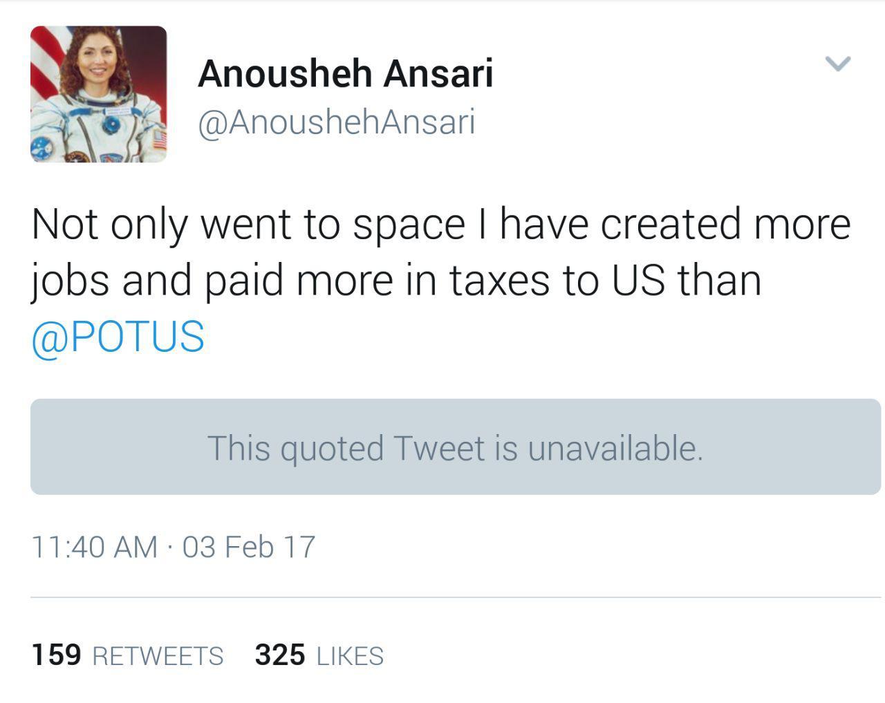 رجز خوانینخستین زن فضانورد ایرانی برای ترامپ