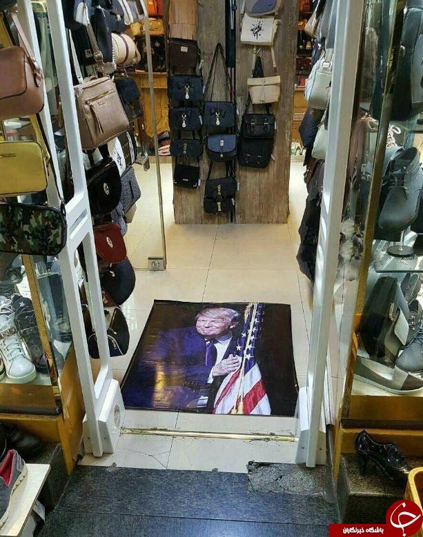 اقدام جالب یک فروشگاه در واکنش به دستور جنجالی ترامپ+تصویر