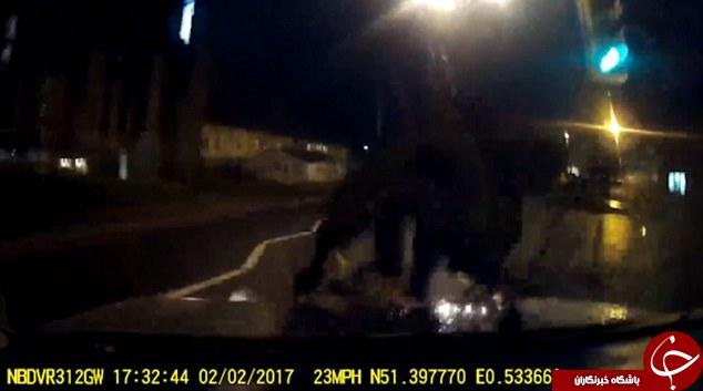 لحظه وحشتناکی که دوچرخهسوار با ماشین تصادف کرد +تصاویر