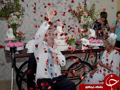 عشق، کهن سال ترین عروس دنیا را به خانه بخت برد+ تصاویر