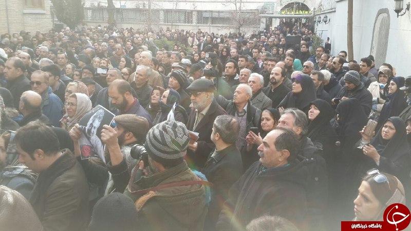خداحافظی هنرمندان با حسن جوهرچی/ بدرقه هنرمند فقید سینما و تلویزیون به خانه ابدی