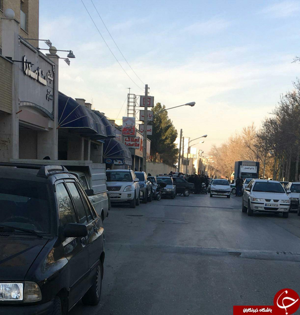 سرقت مسلحانه از بانک مسکن اصفهان + تصاویر