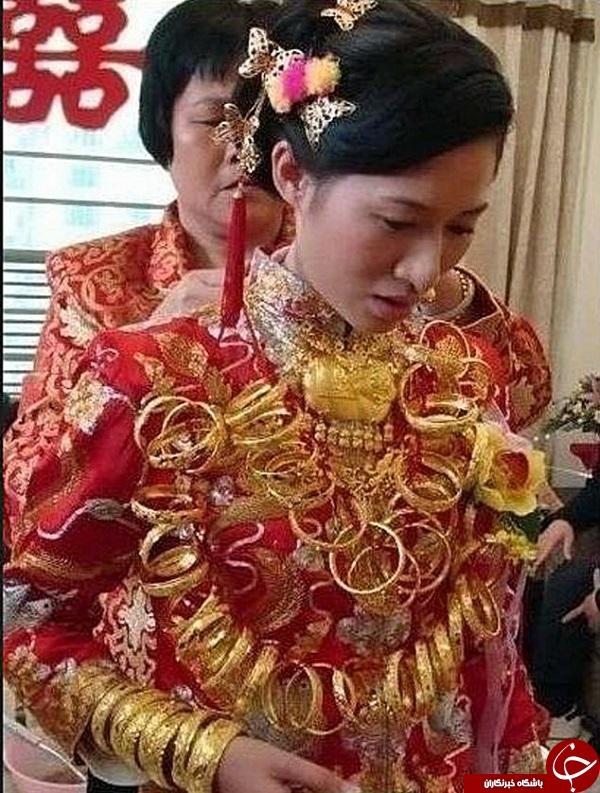 عروسي که با 6 کيلو طلا به خانه بخت رفت