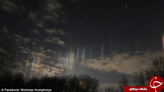 نورهای آسمانی که در پنسیلوانیا تابیدند.
