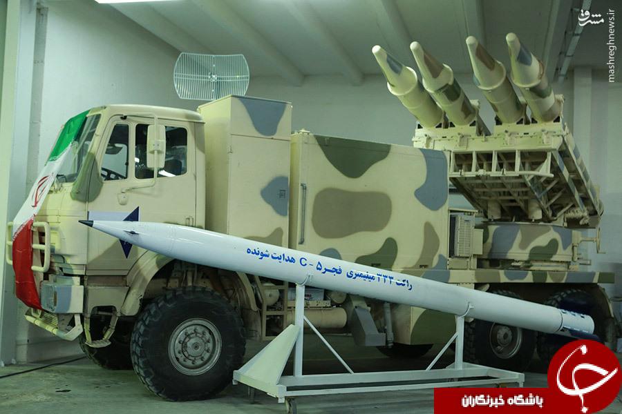 انقلاب توپخانه ای نیروهای مسلح با نسل جدید «فجر 5»/ نصب کلا خاص روی راکت هدایت شونده ایرانی +تصاویر