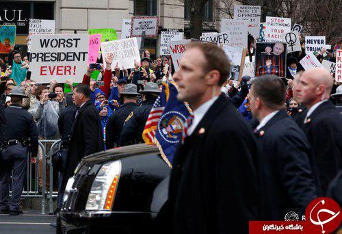 لحظه به لحظه با مراسم تحلیف رئیس جمهور جدید آمریکا + تصاویر