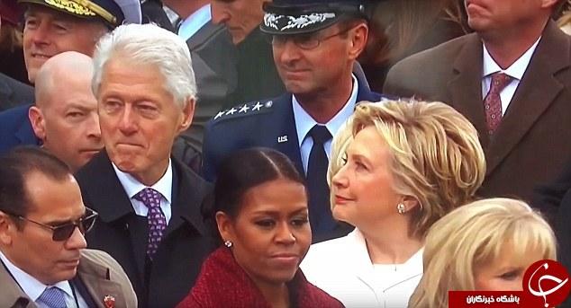 وقتی بیل کلینتون در مراسم ترامپ