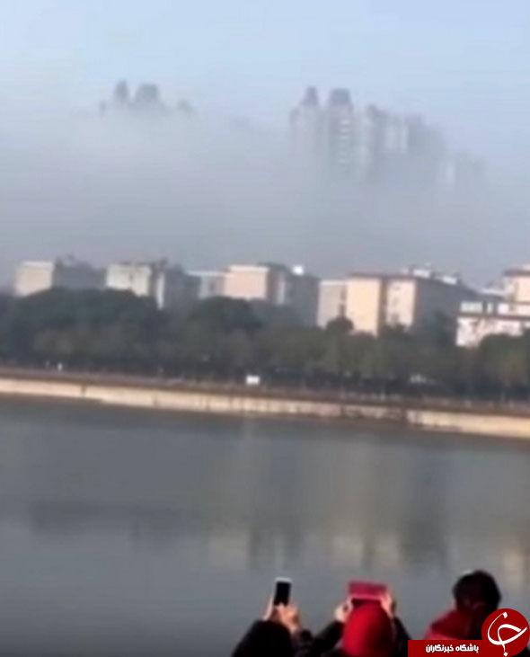 ظاهر شدن شبح کلان شهر در آسمان چین  مردم  را شگفت زده کرد+ تصاویر////فیلم////فیلم باید اضافه شود