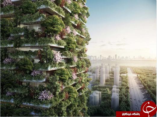 ساخت ساختمان های سبز در چین برای مبارزه با آلودگی هوا + تصاویر