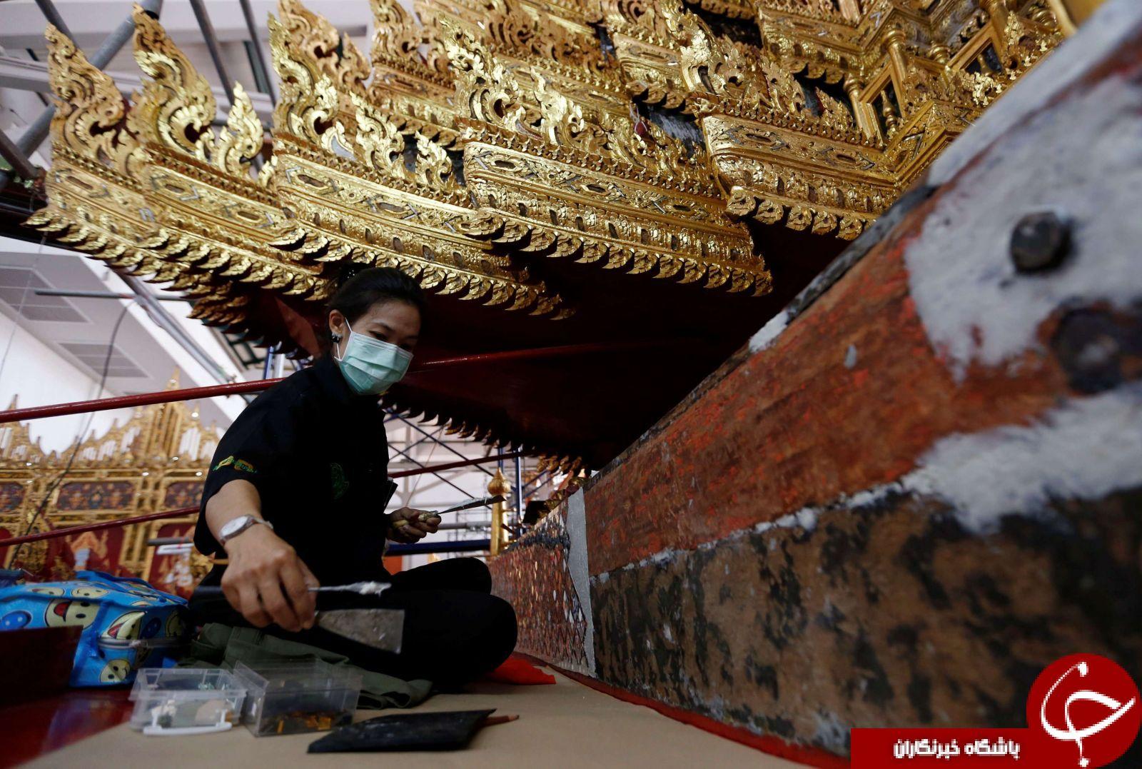 ارابه ای که پادشاه تایلند را به بهشت می برد+تصاویر