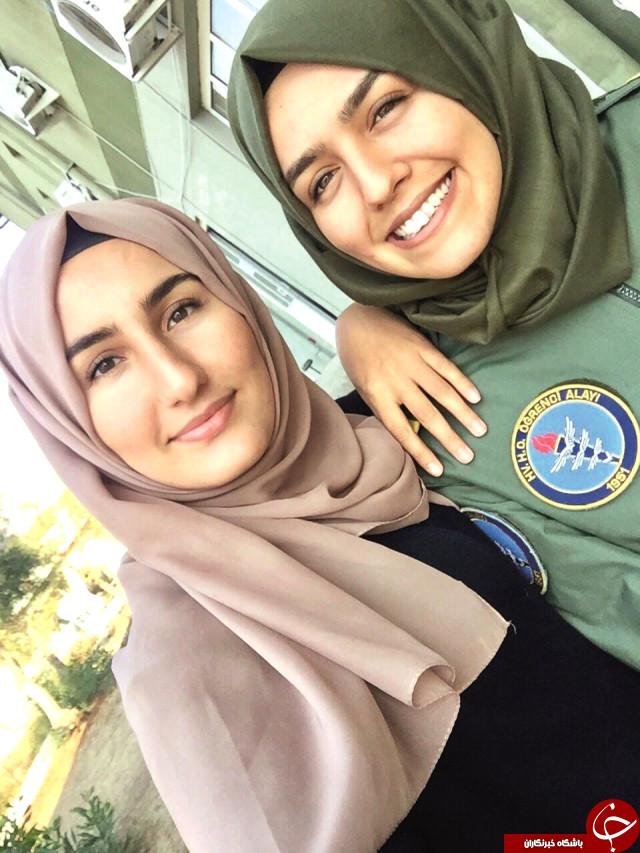 دختر 23 ساله، نخستین خلبان محجبه هواپیماهای جنگنده ترکیه +تصاویر