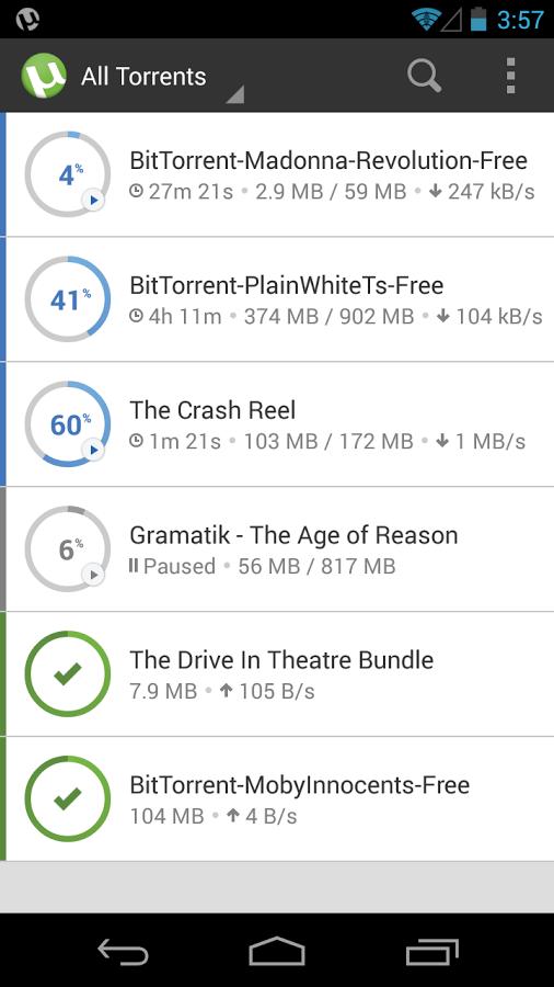 دانلود µTorrent برای اندروید / سریعترین برنامه دانلود فایلهای تورنت