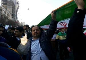 حماسه و همدلی مردم مشهد در راهپیمایی 22 بهمن + تصاویر