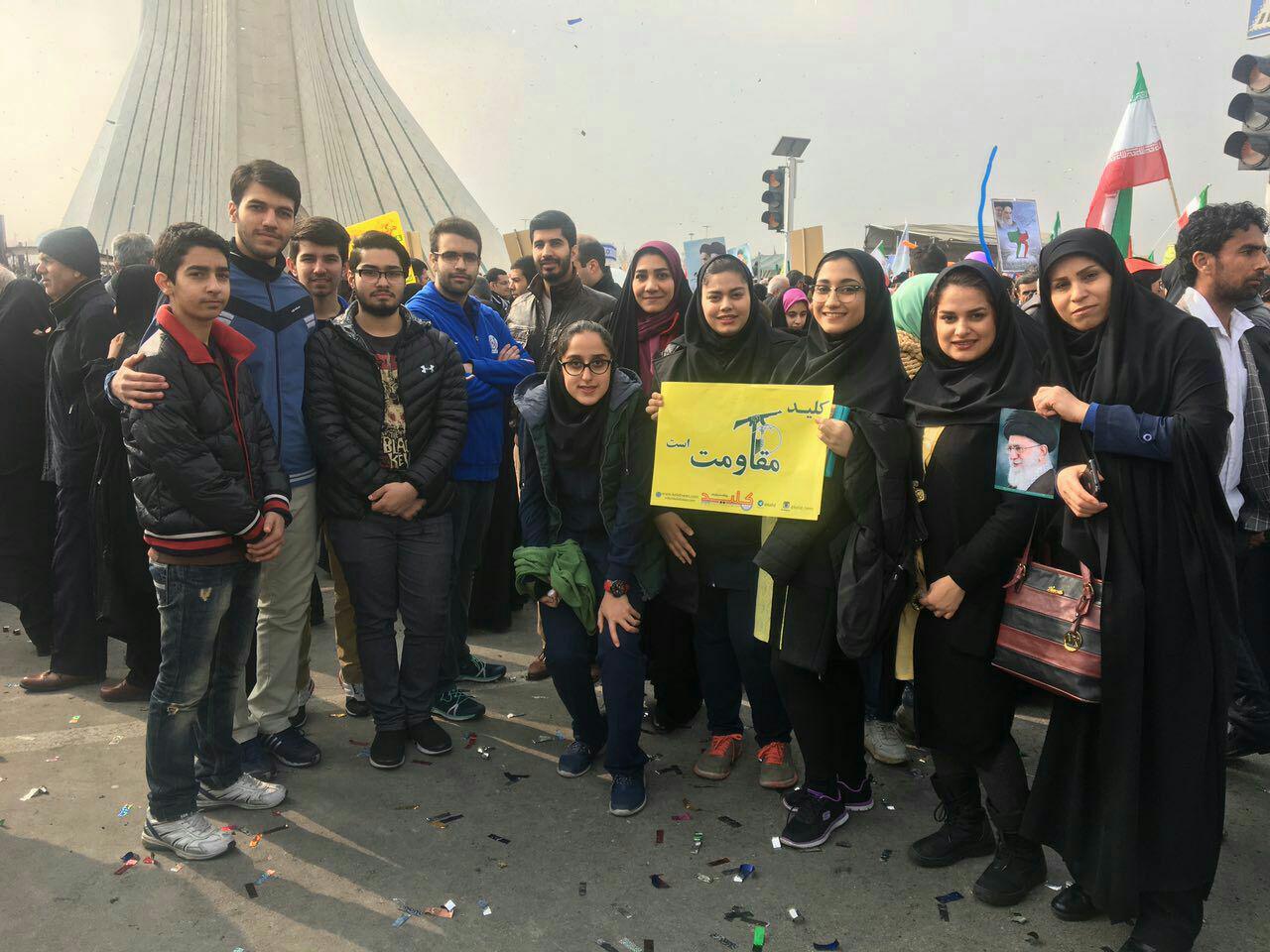 حضور مسئولان و قهرمانان ورزشی در مراسم راهپیمایی 22 بهمن