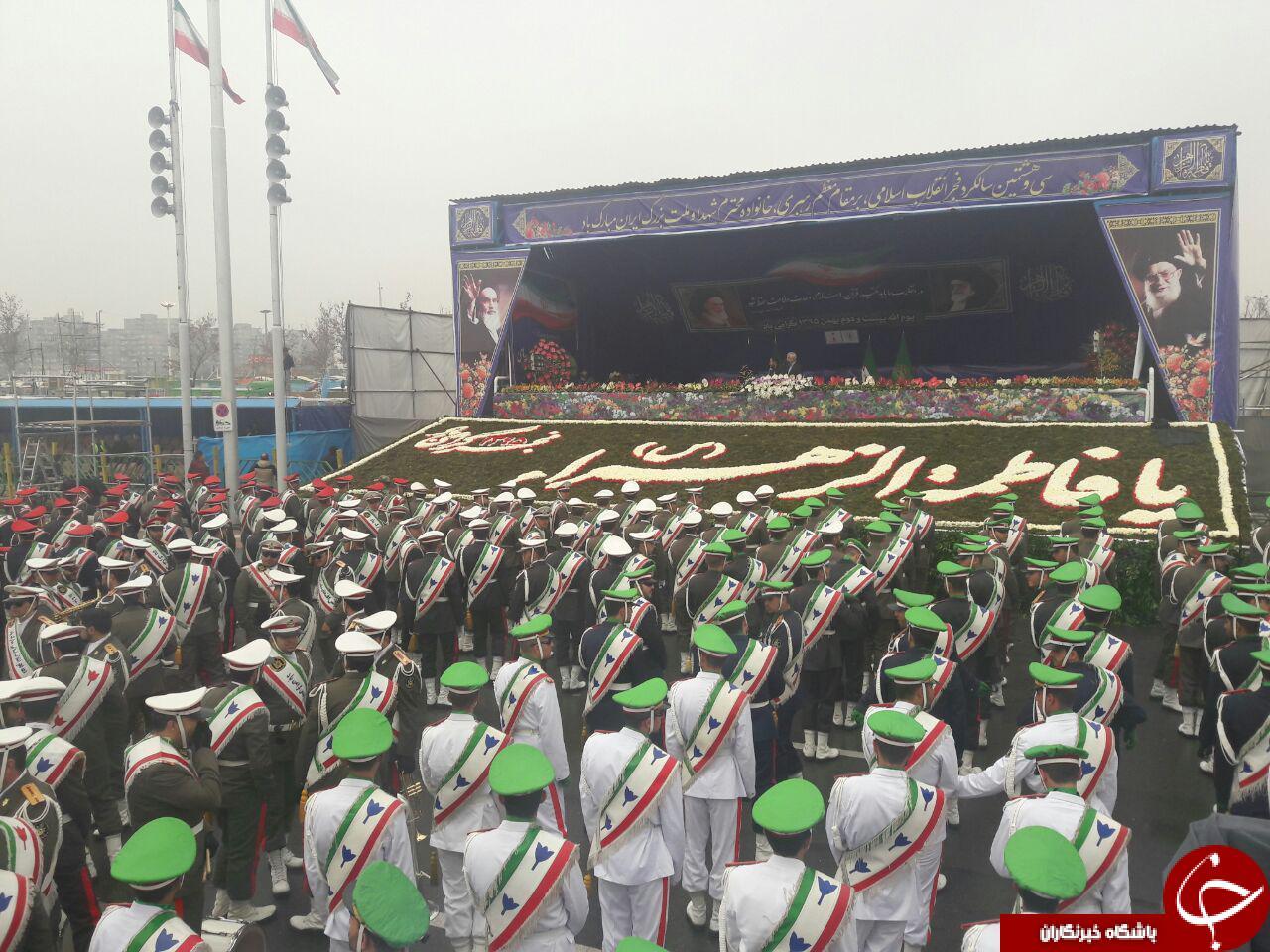 پاسخ تهدید آمریکاییها در راهپیمایی 22 بهمن داده شد/ نمایش اقتدار ملی در خیابان آزادی + تصاویر