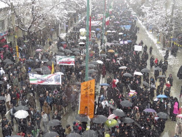 راهپیمایی 22 بهمن در همدان به روایت تصویر(2 )