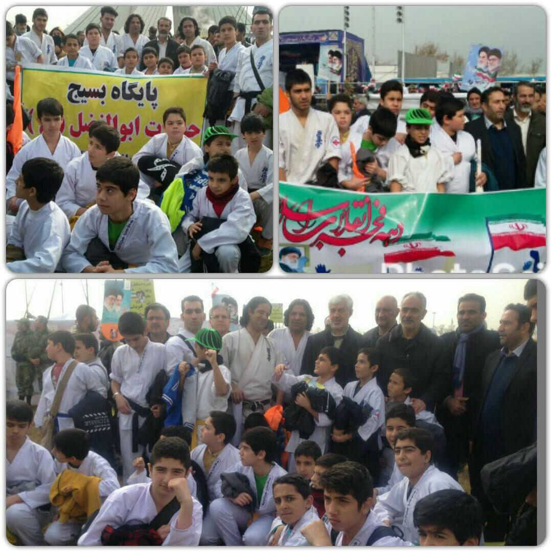 حضور مسئولان و قهرمانان ورزشی در مراسم راهپیمایی 22 بهمن + تصاویر