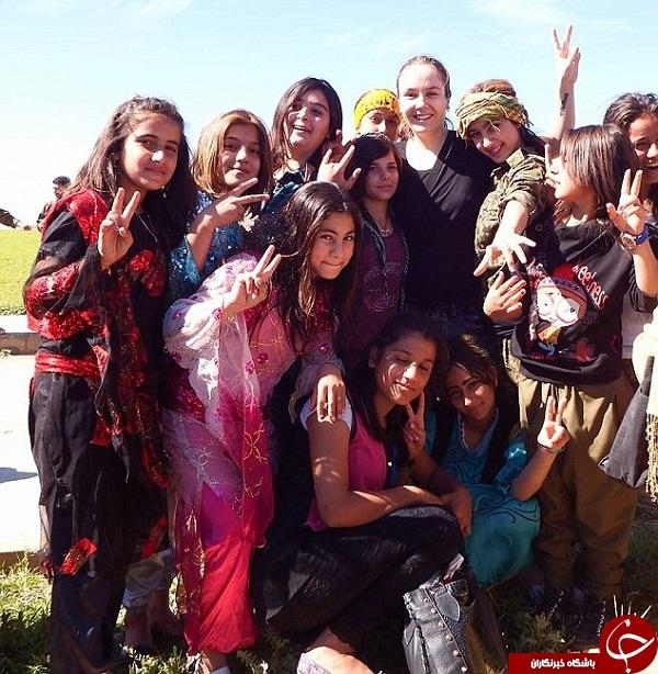 دختر انگلیسی در خط مقدم جنگ علیه داعش , کیمبرلی تیلور دختر مبارز انگلیسی , تیلور دختر مبارز انگلیسی , دختر مبارز انگلیسی در عراق