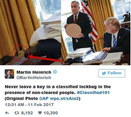 هشدار سناتور آمریکایی به بیتوجهی ترامپ در حفاظت از اسناد محرمانه+توییت