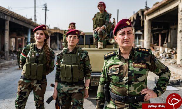 خاتون خيدر زني که قبلا خواننده و حالا سرباز وطن شده است