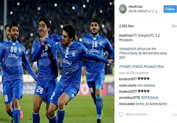 کنفدراسیون فوتبال آسیا برد استقلال را تبریک گفت