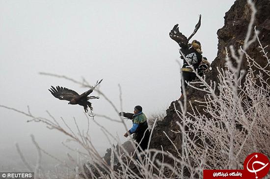 جشنواره شکار با عقاب در قزاقستان +تصاویر