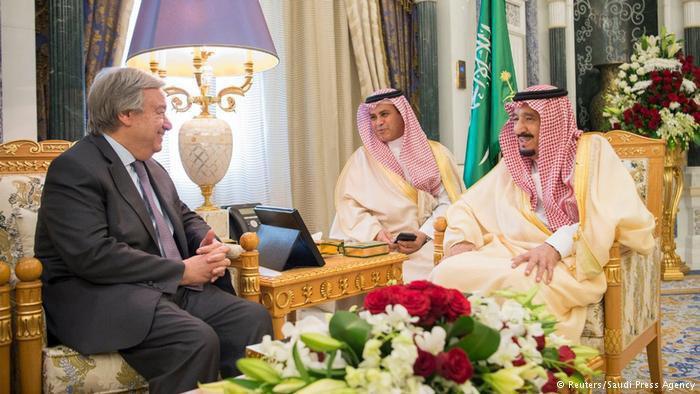دبیرکل سازمان ملل با پادشاه و ولیعهد عربستان به صورت جداگانه ملاقات کرد