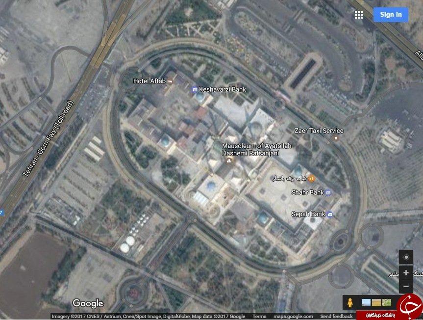 گوگل مپ نام حرم امام خمینی (ره)را تغییر داد