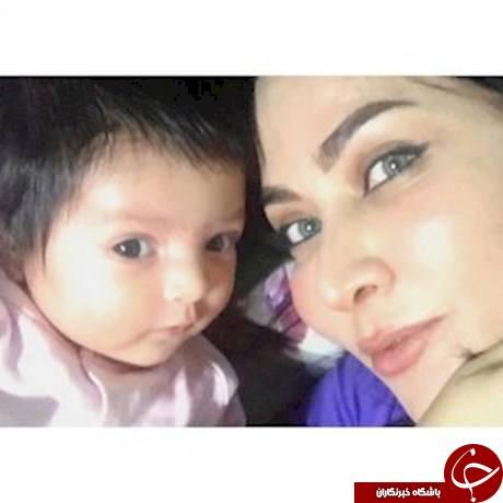 اولین عکس سلفی بازیگر زن معروف و دخترش