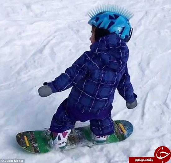 این کودک در اسنو بورد حرفهای است +تصاویر
