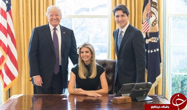 تصویری از دختر ترامپ که حاشیه ساز شد