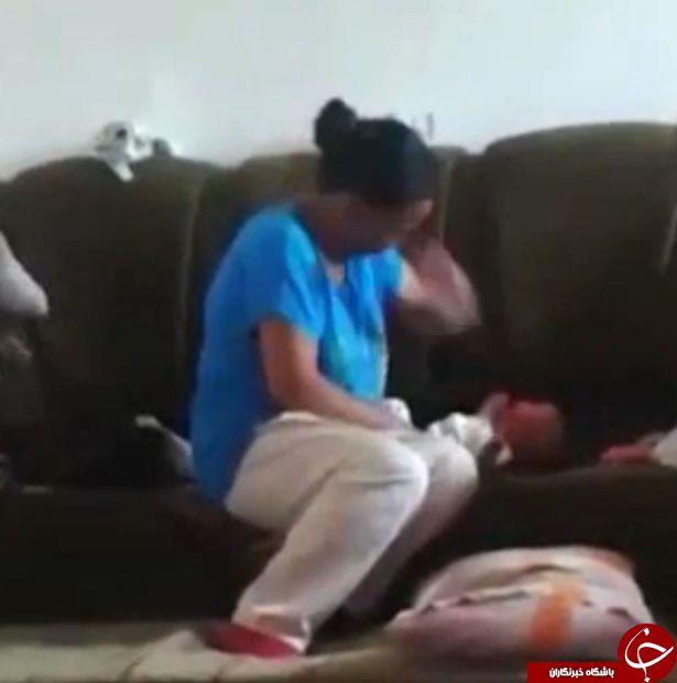 رفتار وحشیانه مادر با نوزاد خود+ فیلم