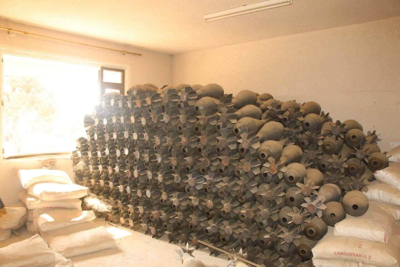 کشف کارخانه بمب داعش در