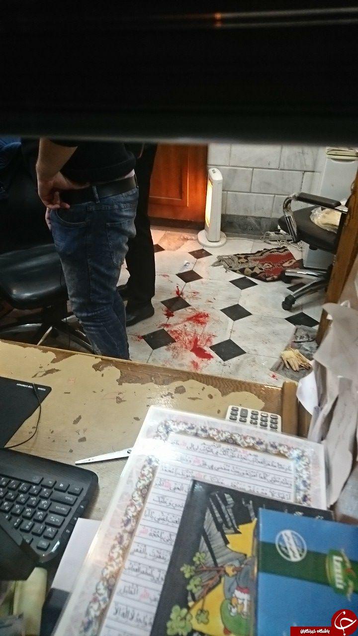 سرقت مسلحانه از صرافی/ زخمی شدن مالک مغازه + تصاویر