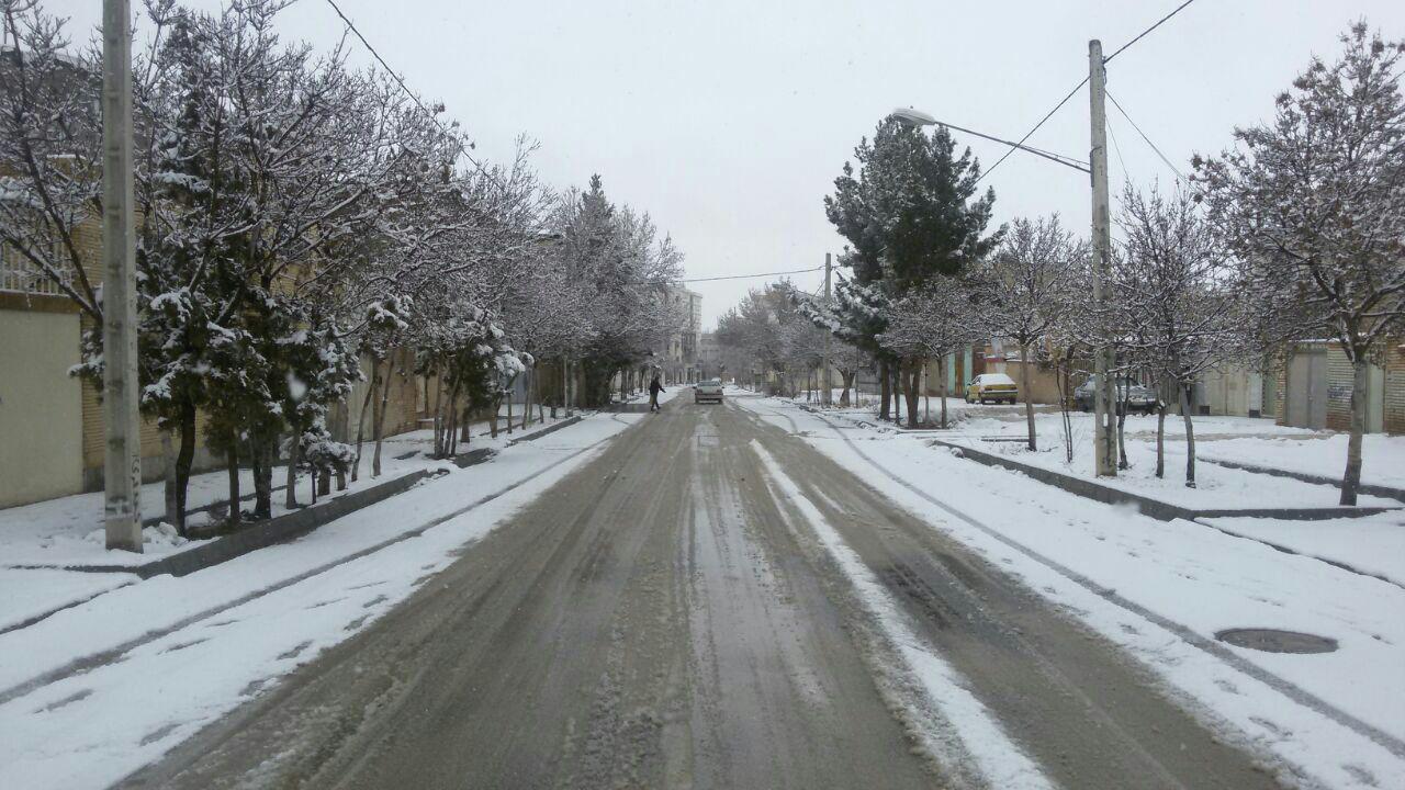 بارش برف در خراسان شمالی