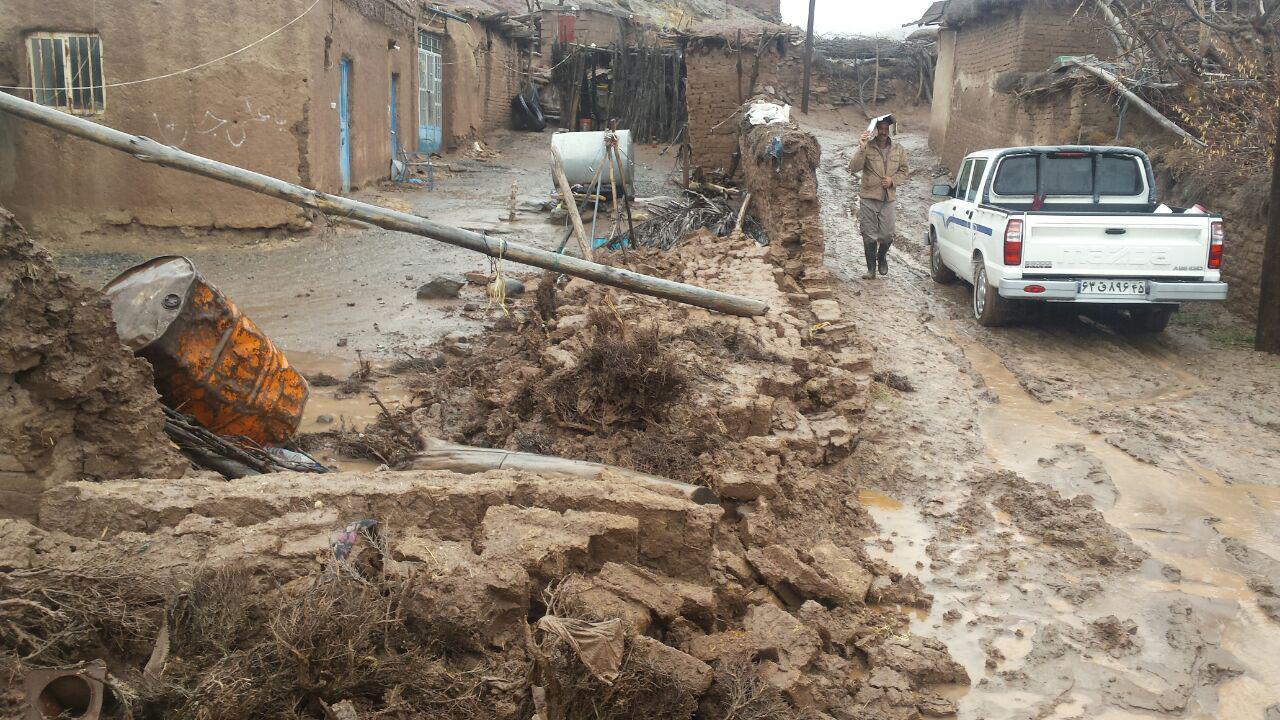 وضیعت استان کرمان در بارندگی های امروز